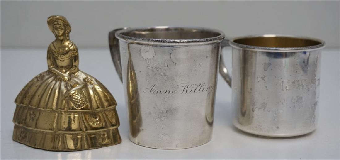 2 ANTIQUE STERLING CUPS / MUGS - 8