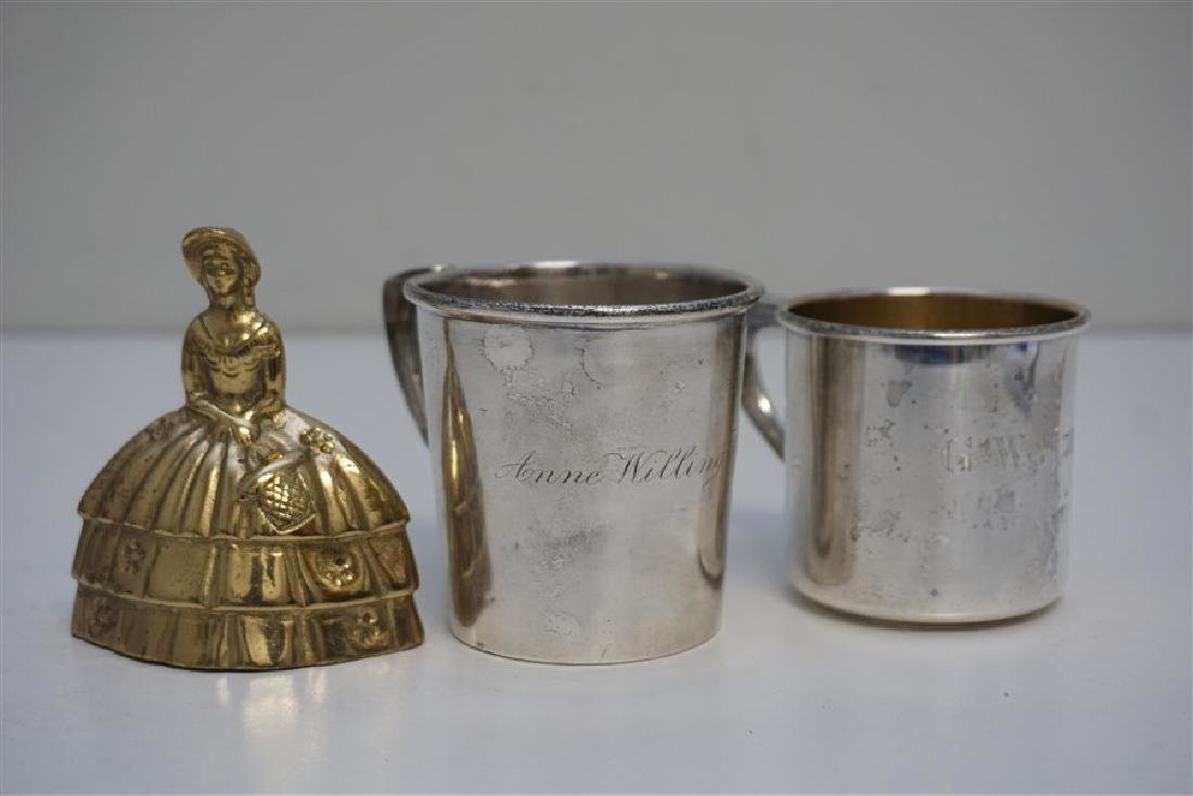 2 ANTIQUE STERLING CUPS / MUGS - 9