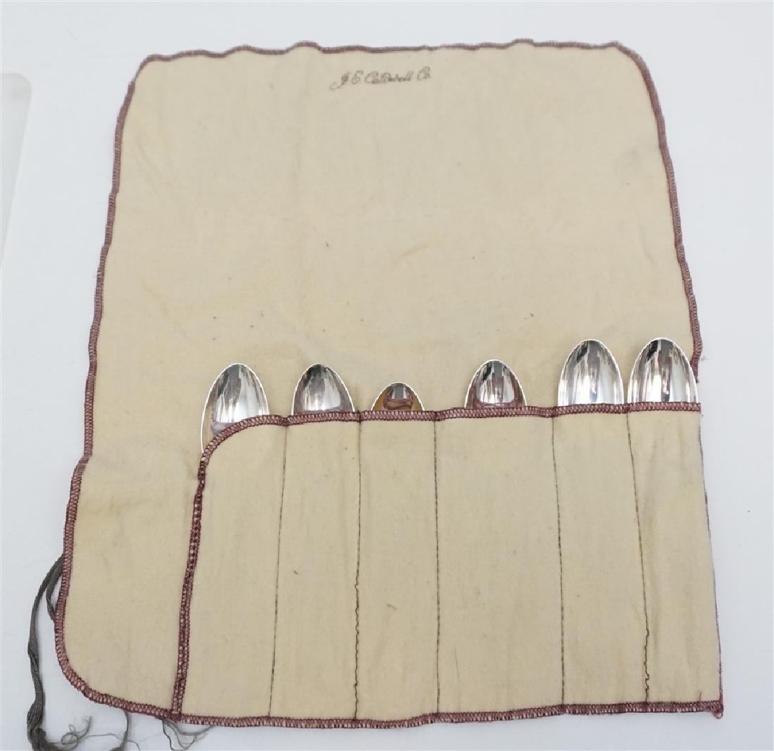 6 BUCCELLATI SAVOY STERLING SPOONS - 7