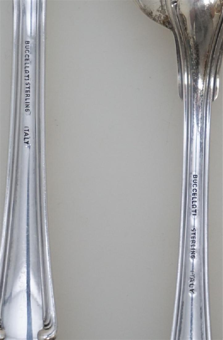 4 pc BUCCELLATI SAVOY STERLING RICE / DRESSING SPOON + - 5