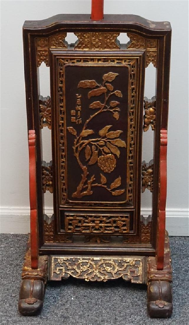 """19th c CHINESE TEMPLE TALL 64"""" CANDLE STAND - 7"""