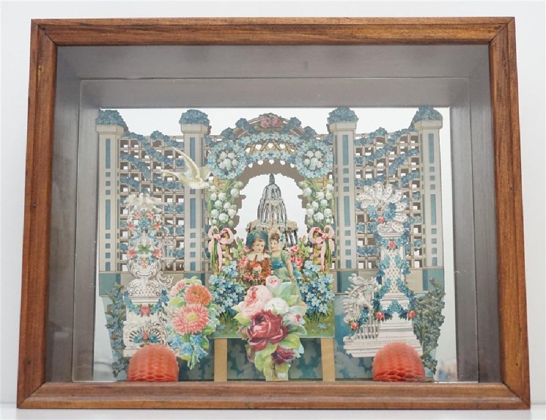 ANTIQUE VICTORIAN VALENTINE SHADOWBOX