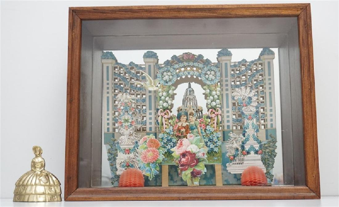 ANTIQUE VICTORIAN VALENTINE SHADOWBOX - 4