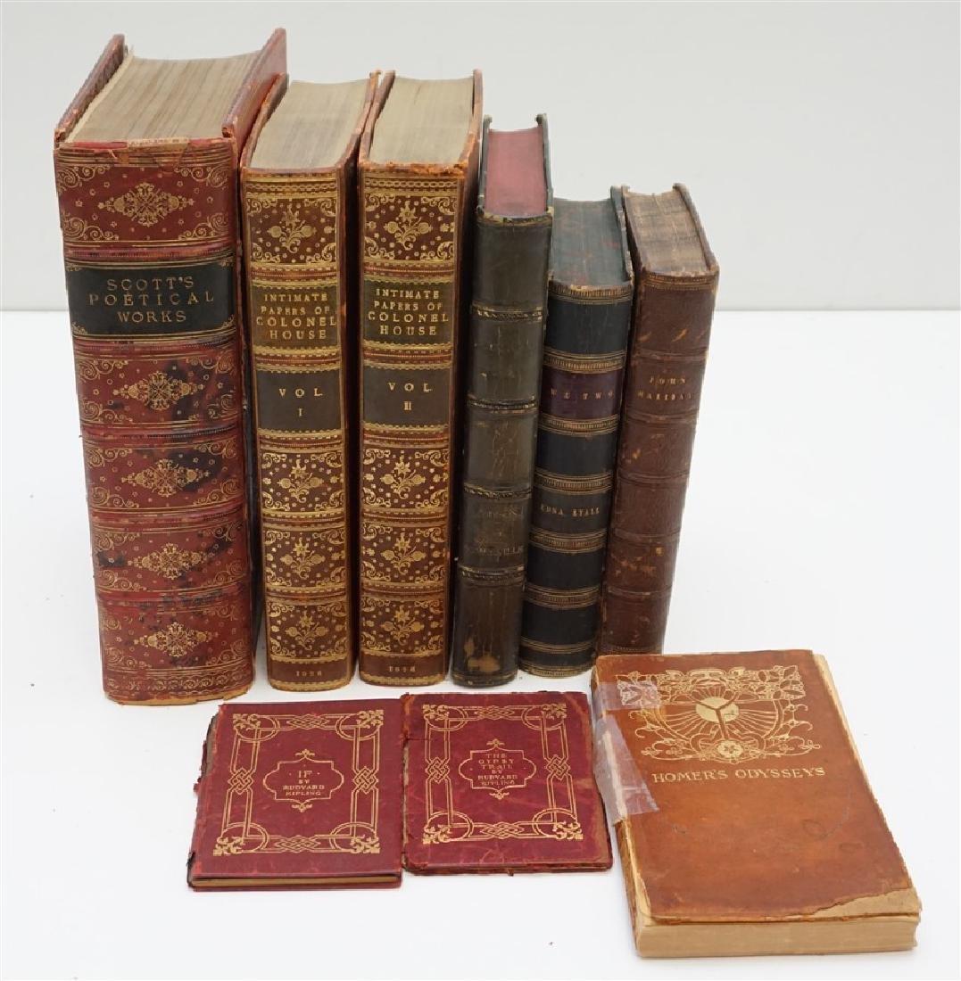 9 ANTIQUE COLLECTIBLE BOOKS