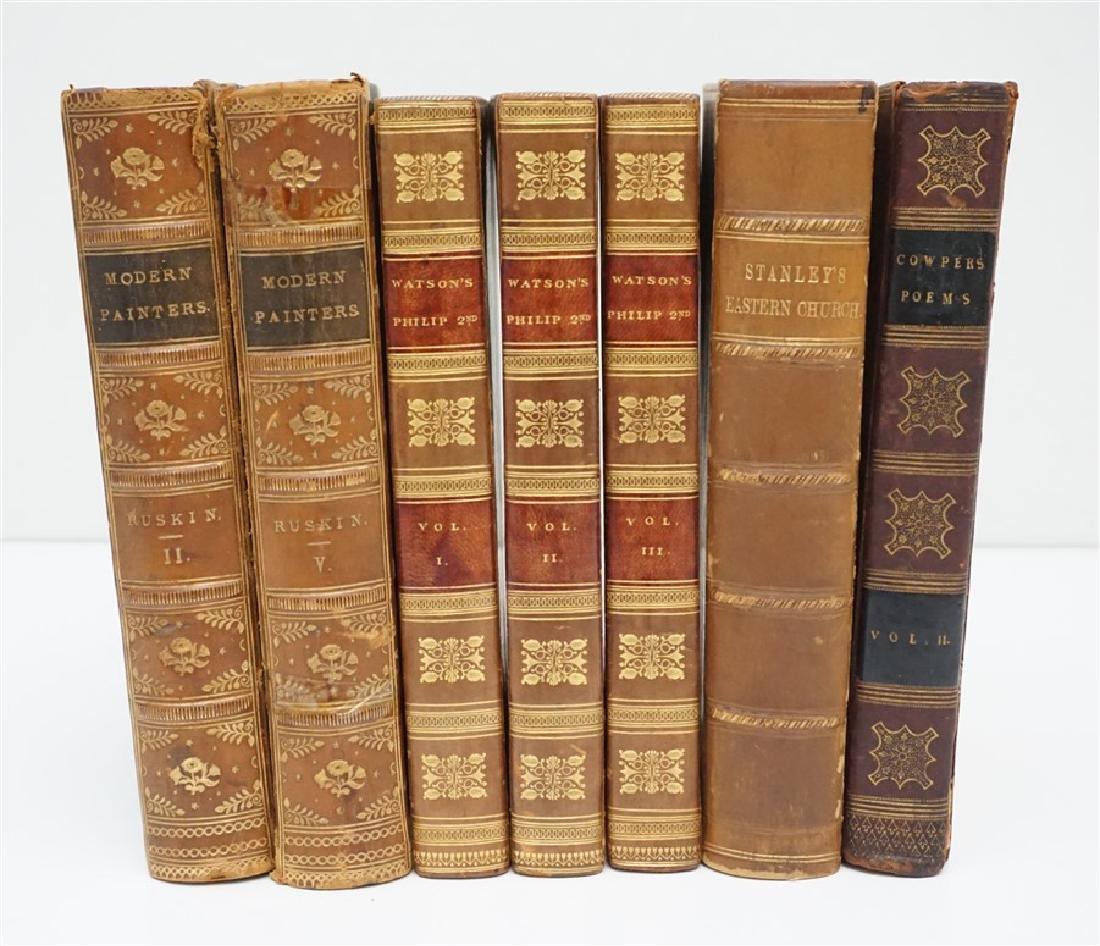 7 ANTIQUE BOOKS - COWPER +