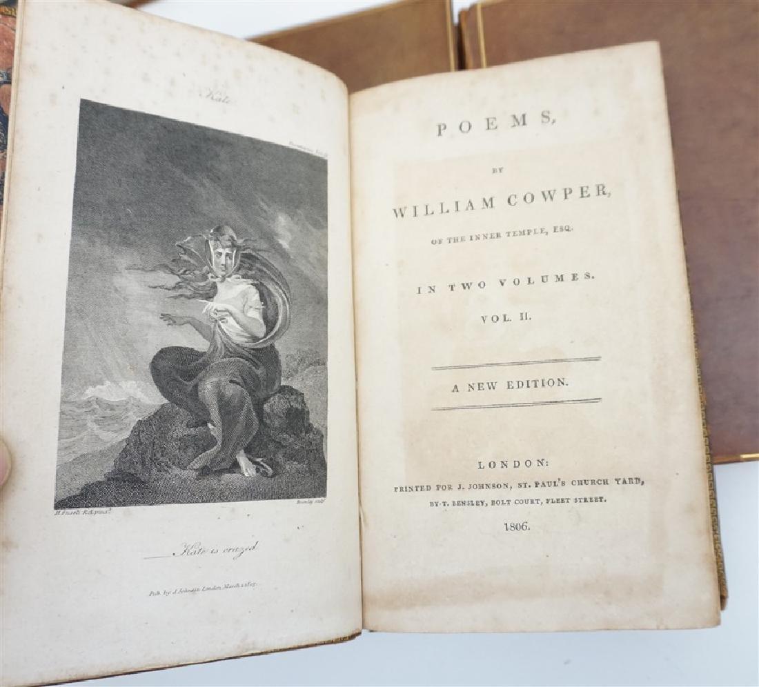 7 ANTIQUE BOOKS - COWPER + - 9