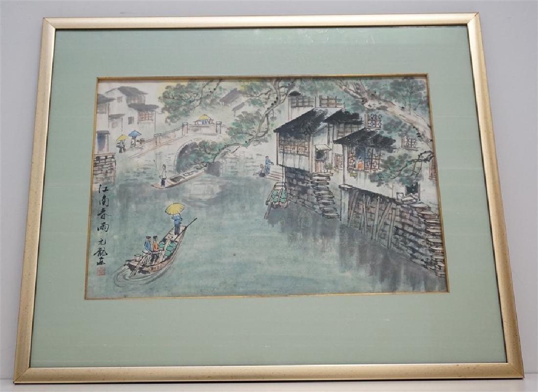 ORIGINAL JAPANESE INK & WATERCOLOR