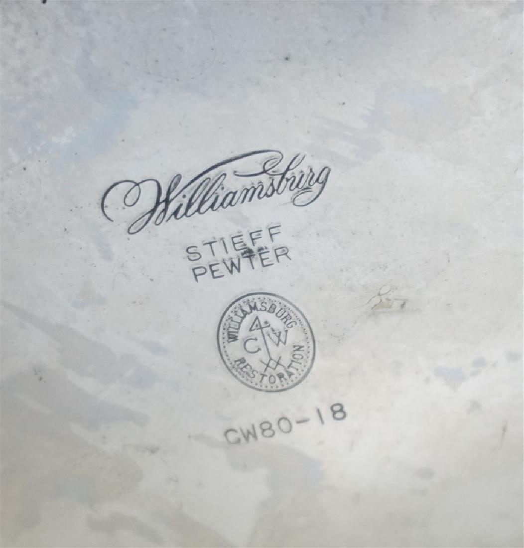 3 PC WILLIAMSBURG STIEFF PEWTER COFFEE - 5