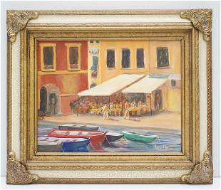 ANDRE POHL ITALIAN OIL PAINTING