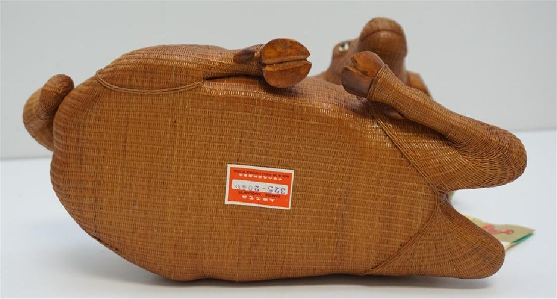 LARGE PLAITED BAMBOO GOAT / RAM BOX - 8