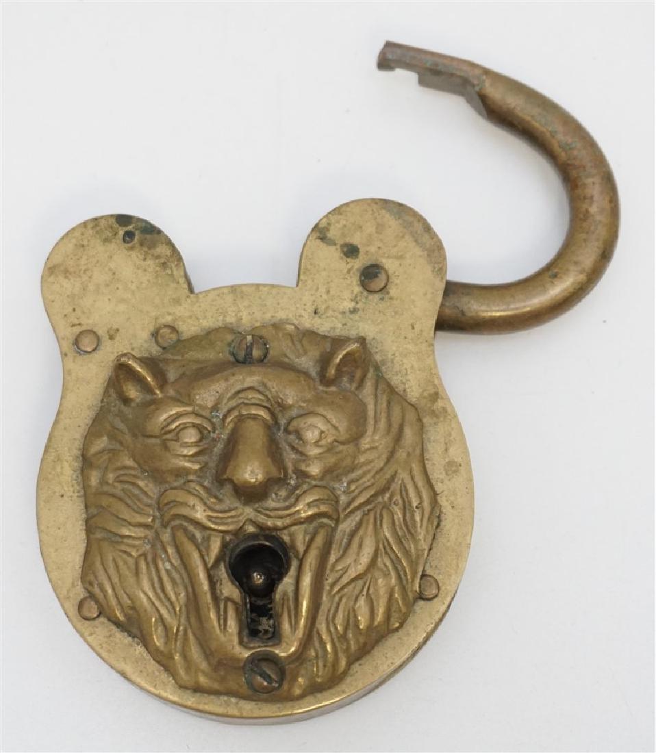 19TH c LION HEAD PADLOCK - 2