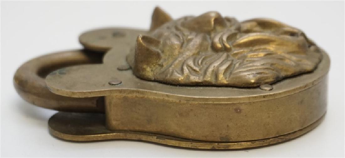 19TH c LION HEAD PADLOCK - 4