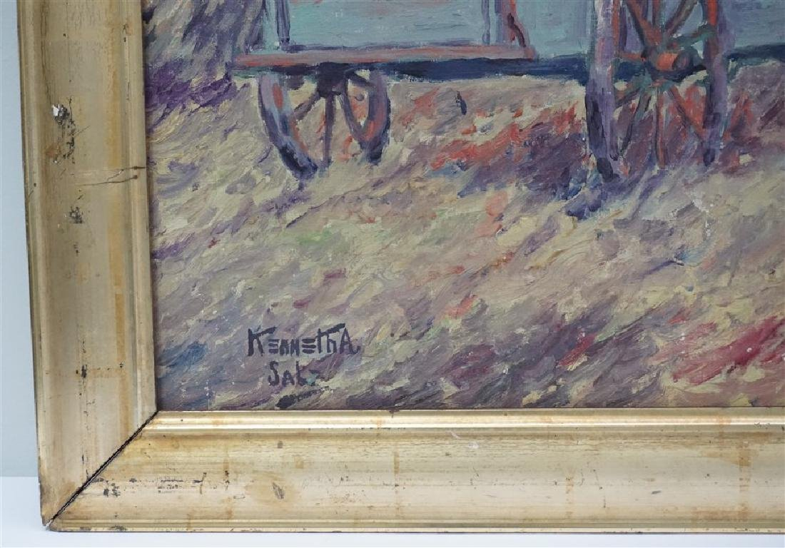 OIL ON CANVAS FARM WORKERS - 3