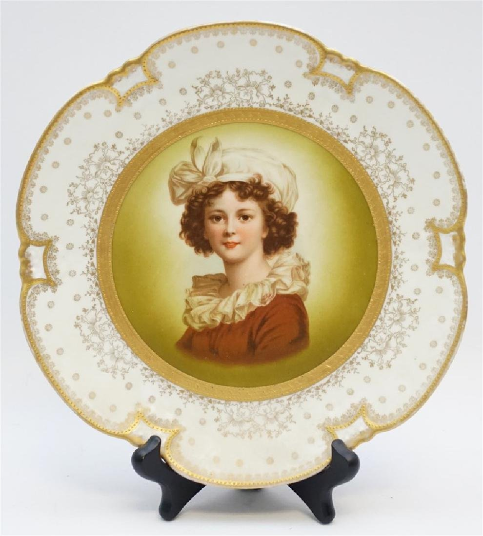 HEINRICH & CO PORCELAIN PORTRAIT PLATE
