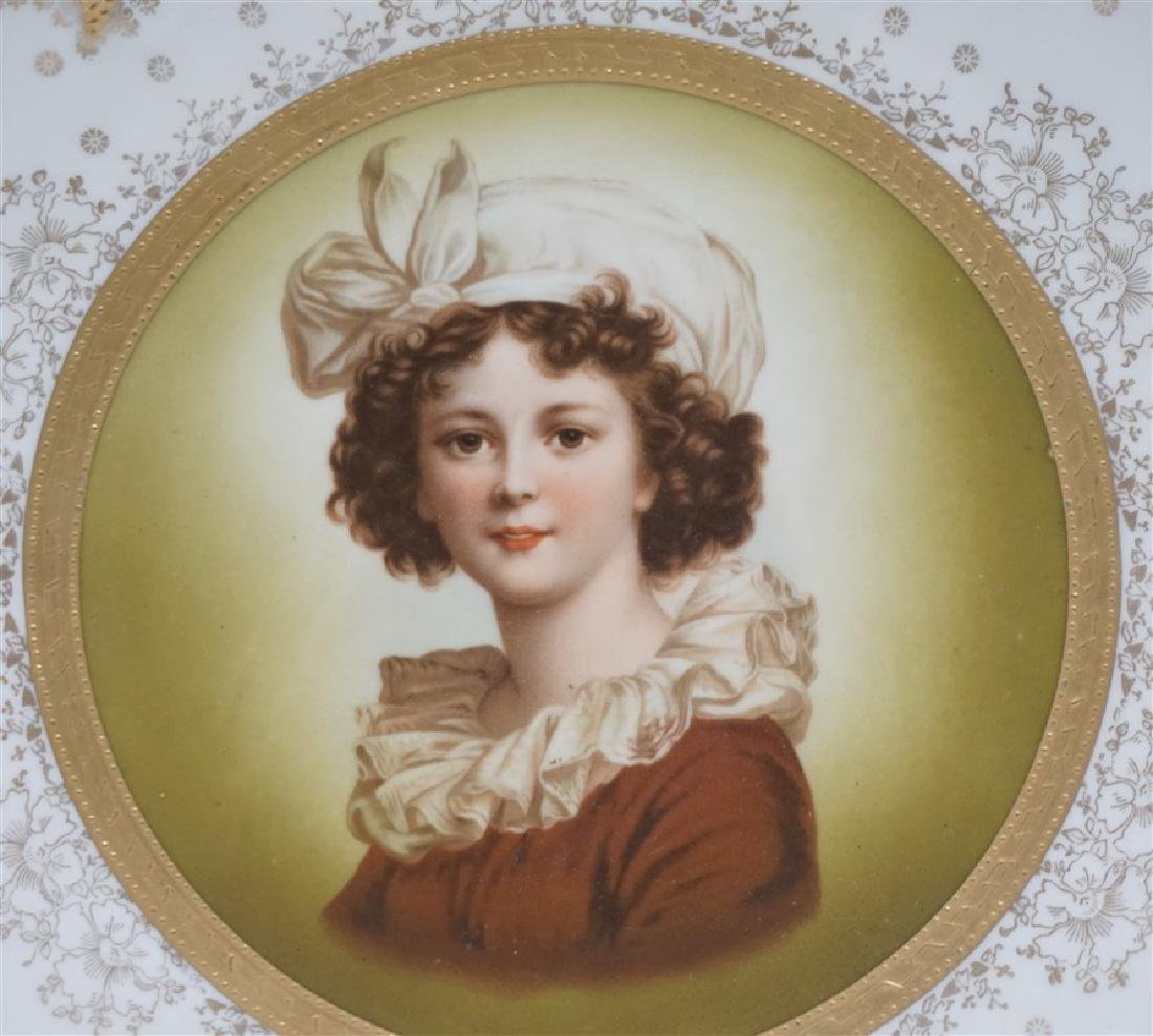 HEINRICH & CO PORCELAIN PORTRAIT PLATE - 2