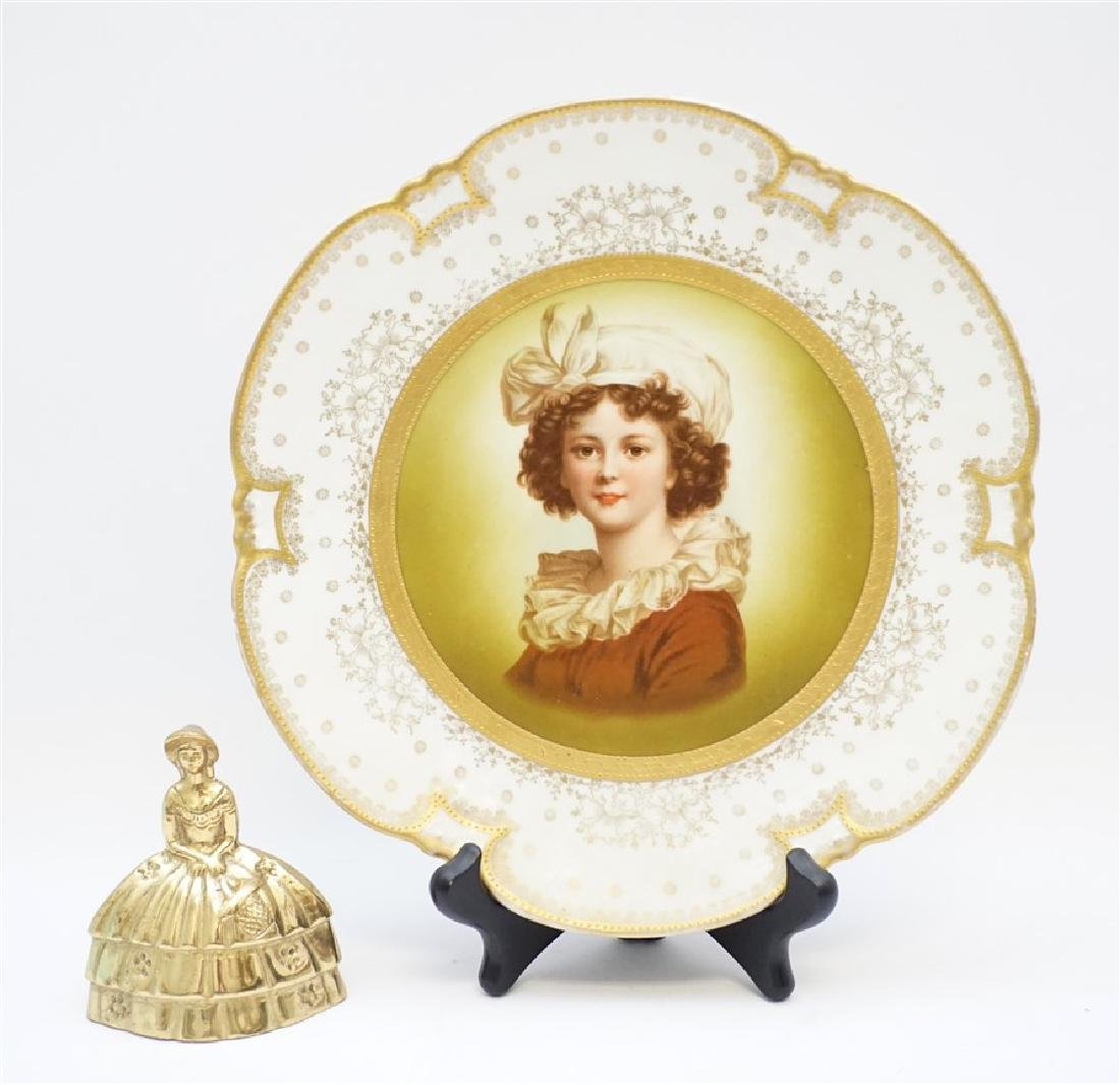 HEINRICH & CO PORCELAIN PORTRAIT PLATE - 8