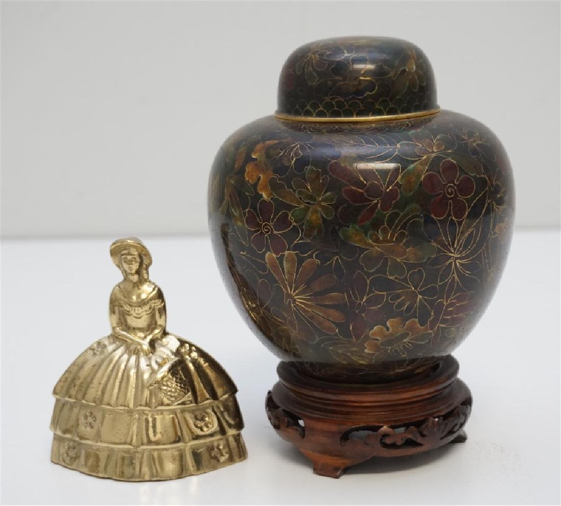 CHINESE CLOISONNE JAR ON STAND - 10