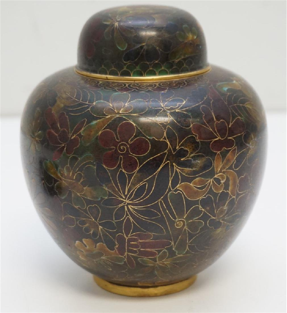 CHINESE CLOISONNE JAR ON STAND - 4