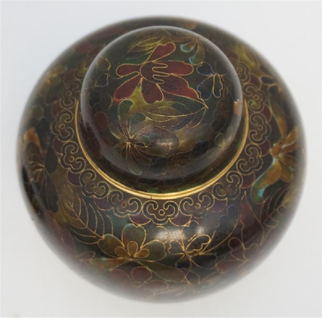 CHINESE CLOISONNE JAR ON STAND - 6