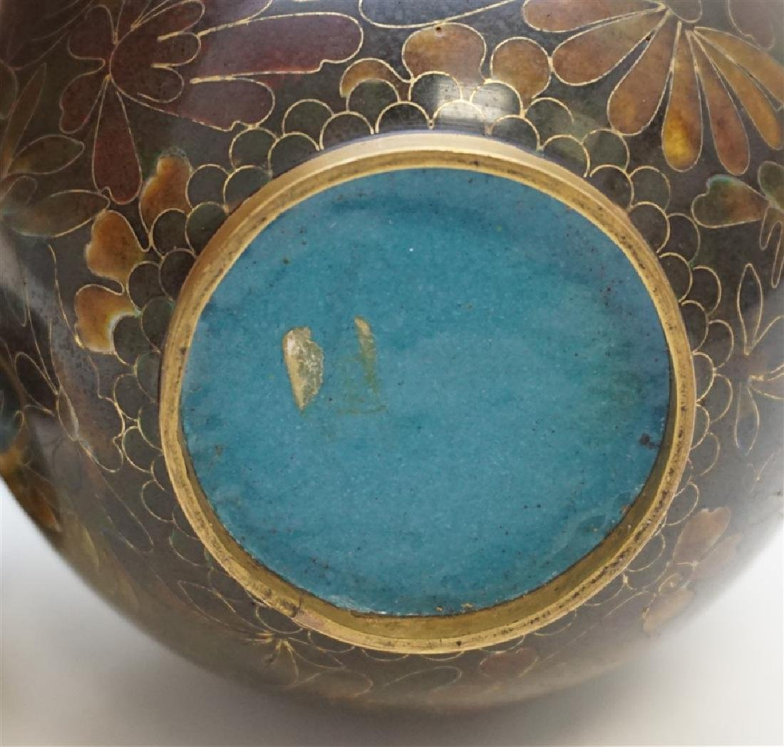 CHINESE CLOISONNE JAR ON STAND - 8