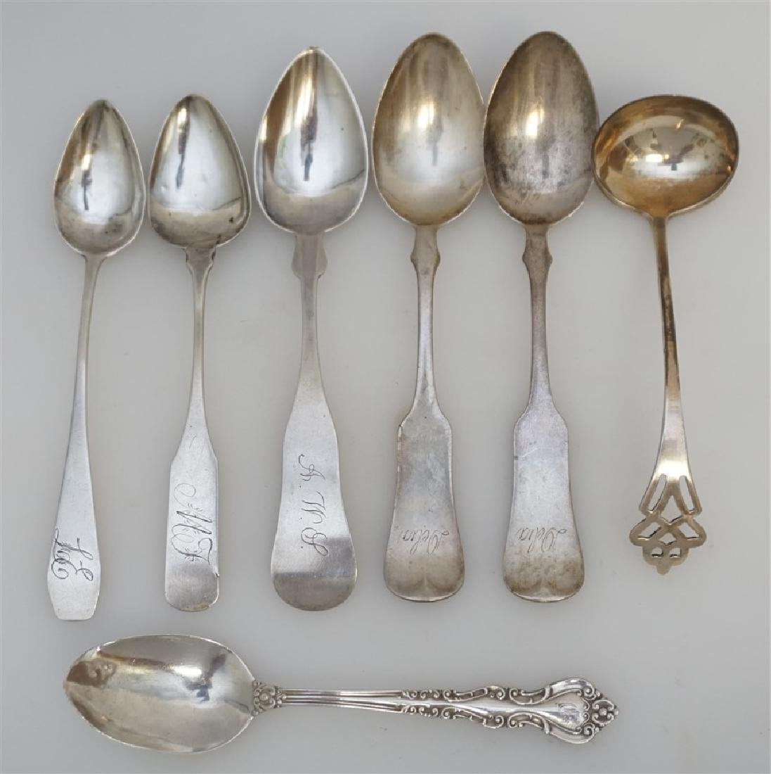 7 STERLING & COIN SILVER SPOONS