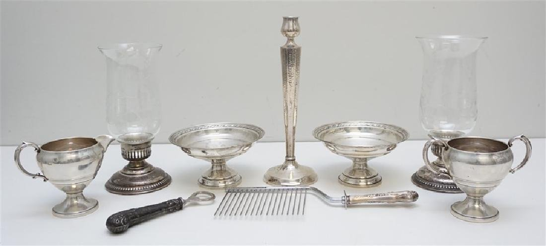 9 PC AMERICAN STERLING COMPOTES & HURRICANES.