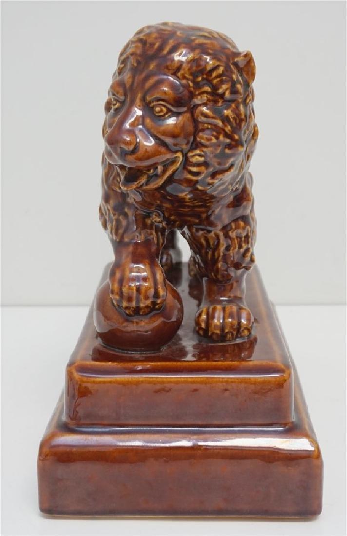 SHIWAN WARE POTTERY LION - 2