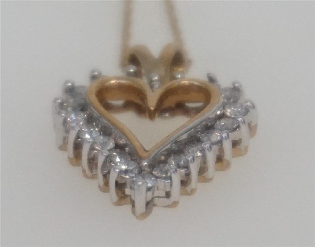 10k YELLOW GOLD DIAMOND HEART NECKLACE - 4