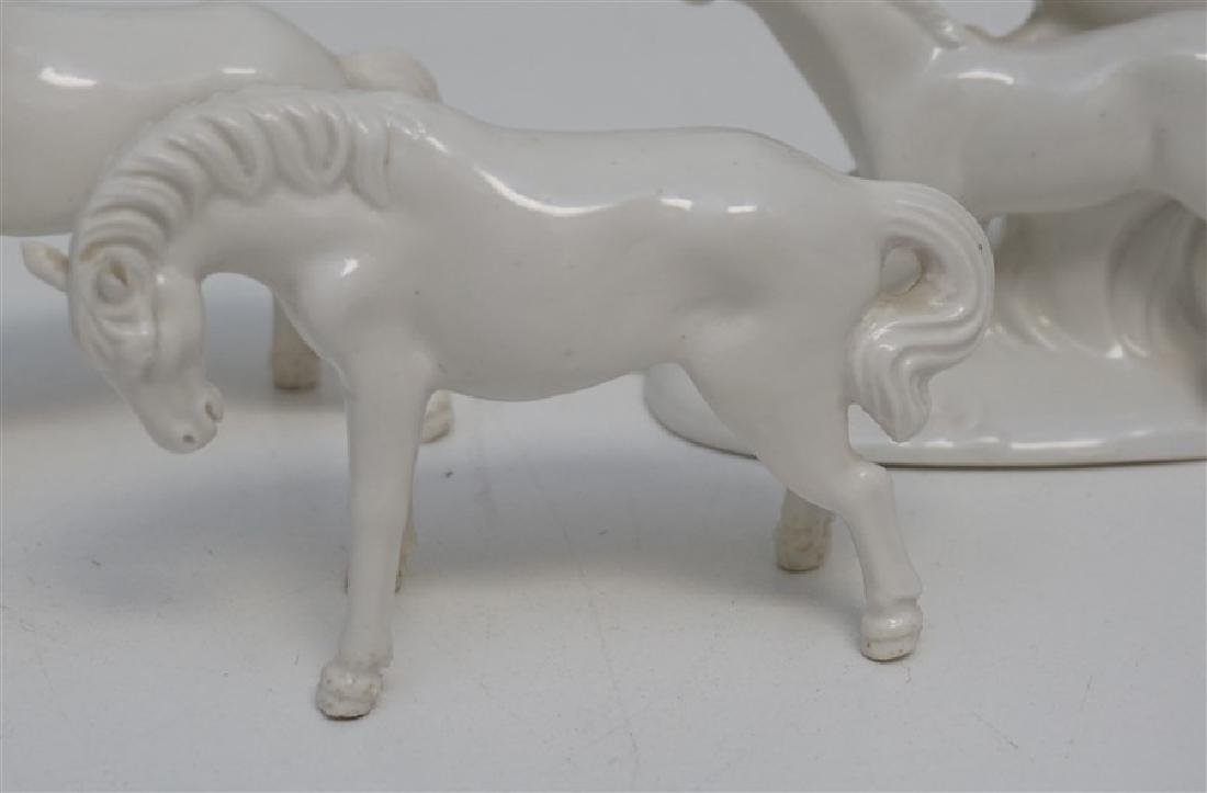 5 WHITE PORCELAIN HORSES GROUPING - 3