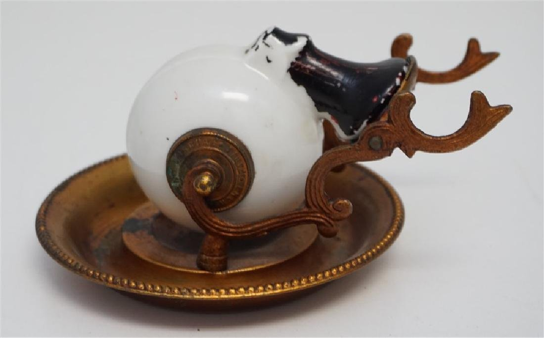 FRENCH ENCRIER PORCELAIN INKWELL
