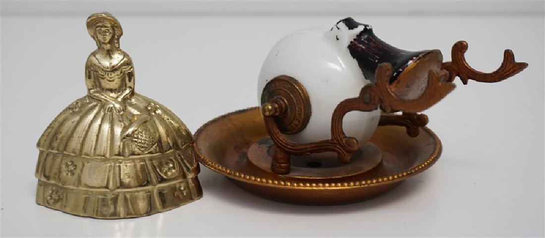FRENCH ENCRIER PORCELAIN INKWELL - 7