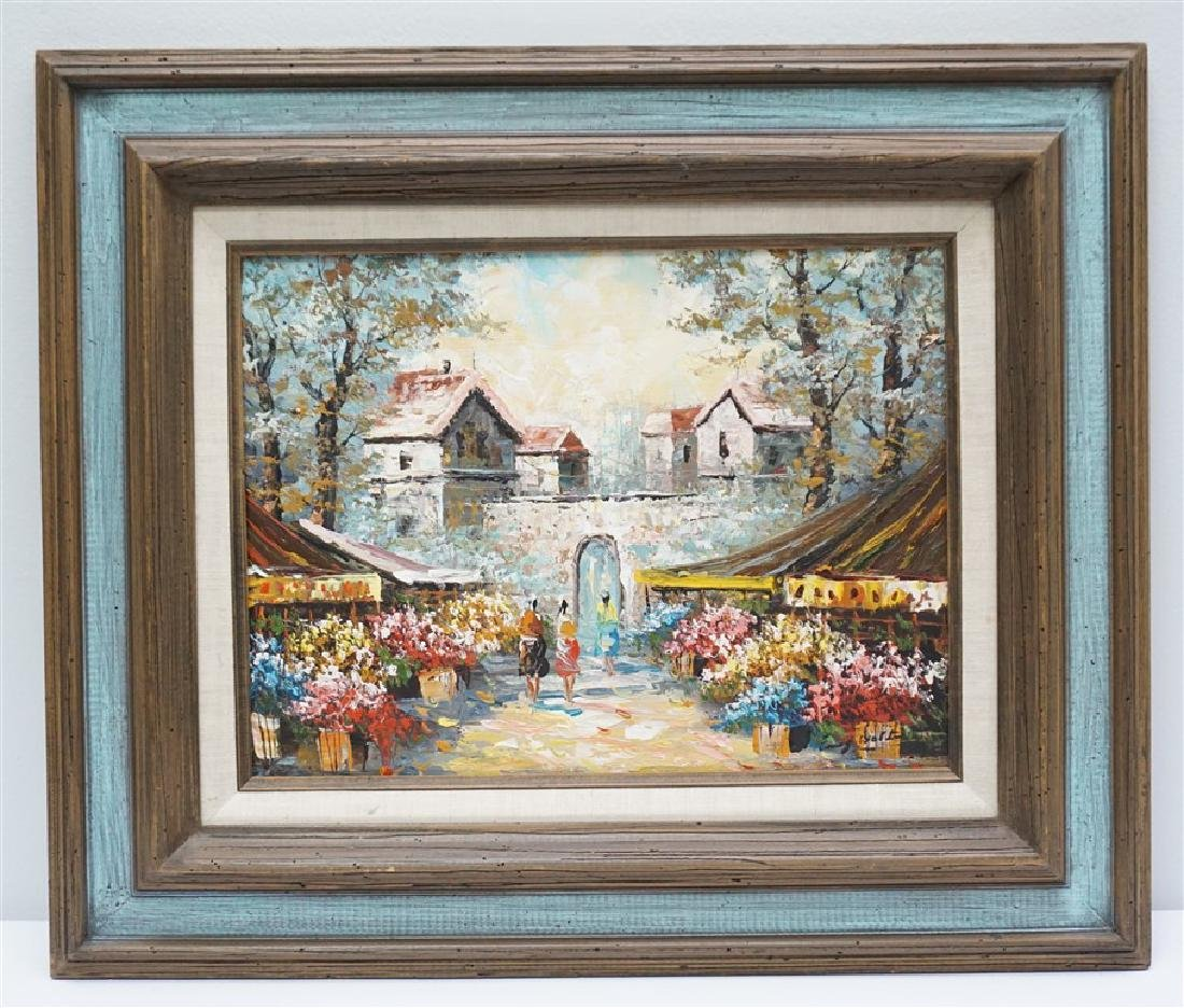 FRENCH FLOWER MARKET PAINTING