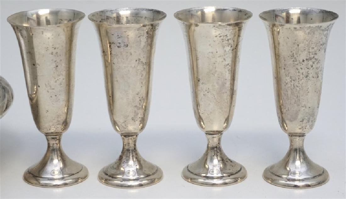 5 PC AMERICAN STERLING BOWL & CORDIALS - 2