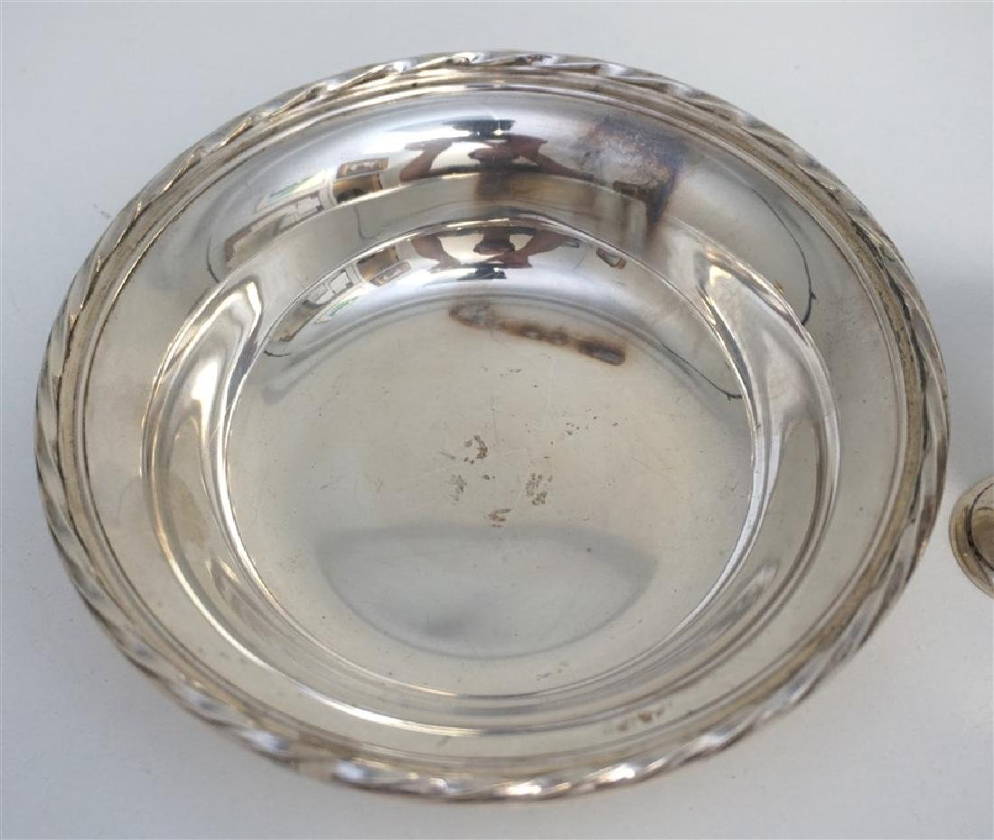 5 PC AMERICAN STERLING BOWL & CORDIALS - 3