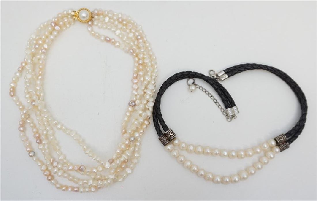 2PC FRESHWATER PEARL JEWELRY