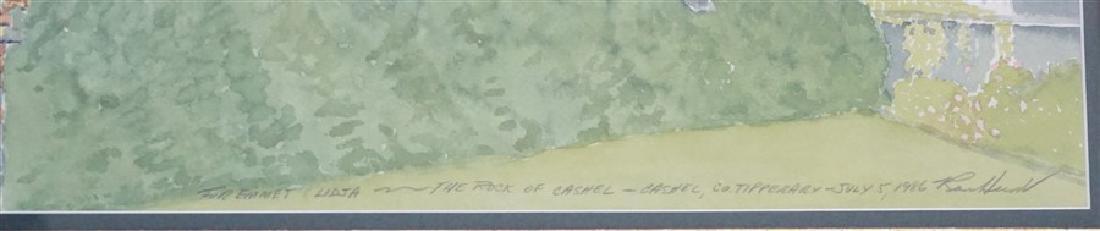ROCK OF CASHEL IRISH WATERCOLOR - 3