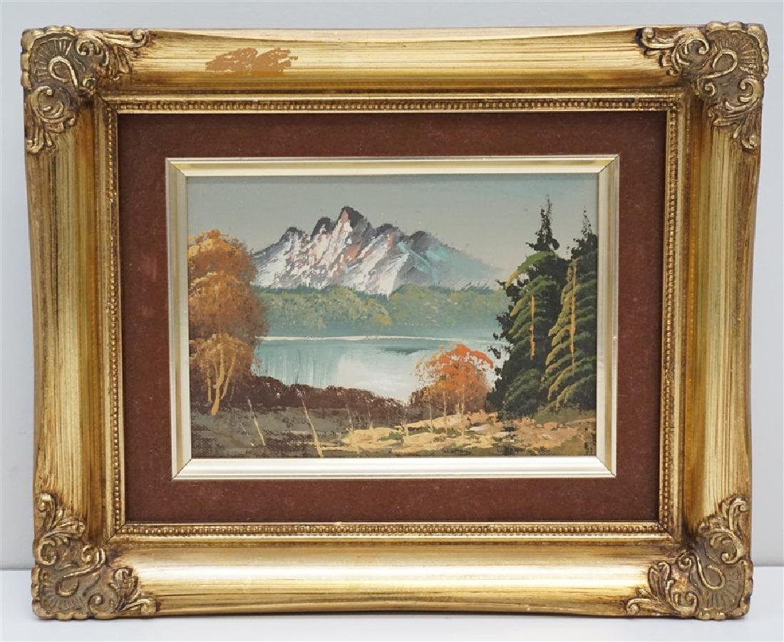 VINTAGE MOUNTAIN LANDSCAPE PAINTING