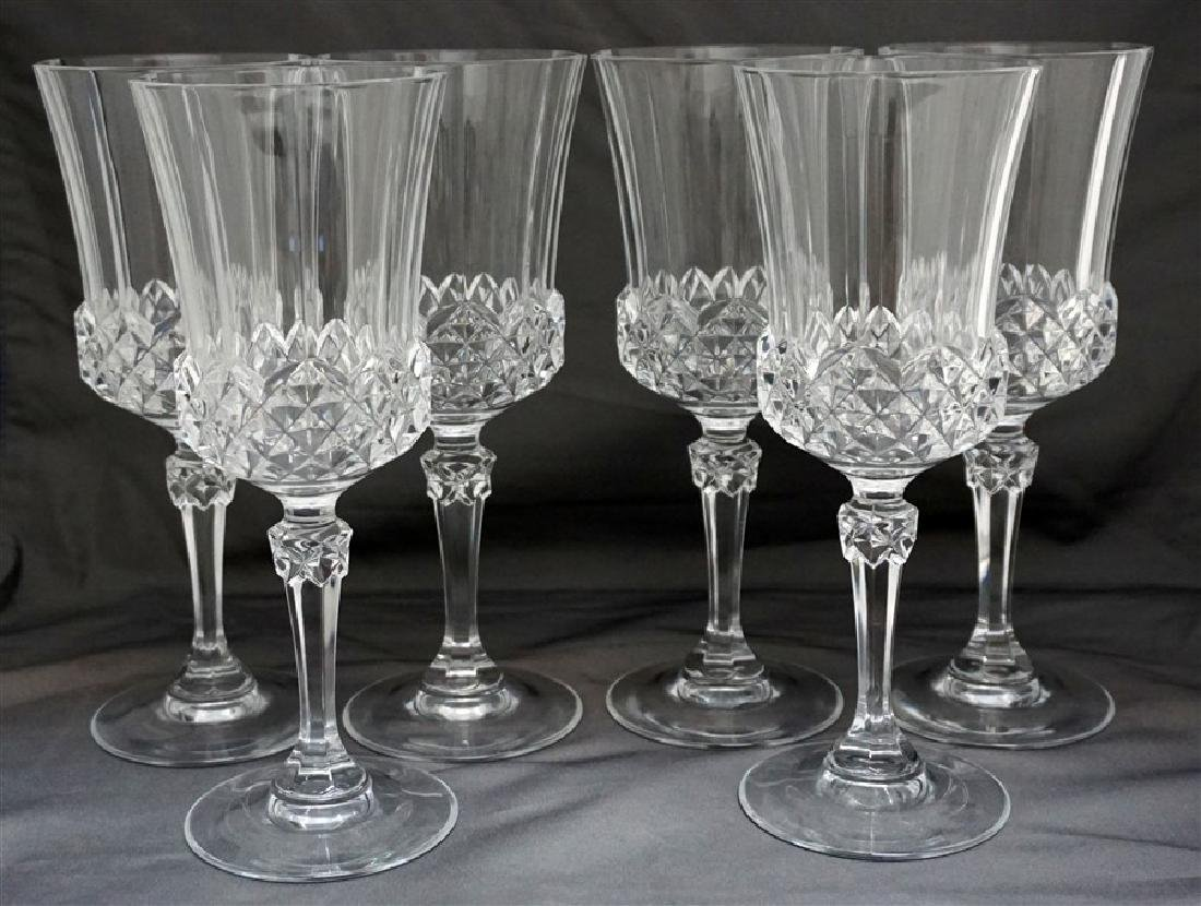 6 ELEGANT PANELED WINE GLASSES
