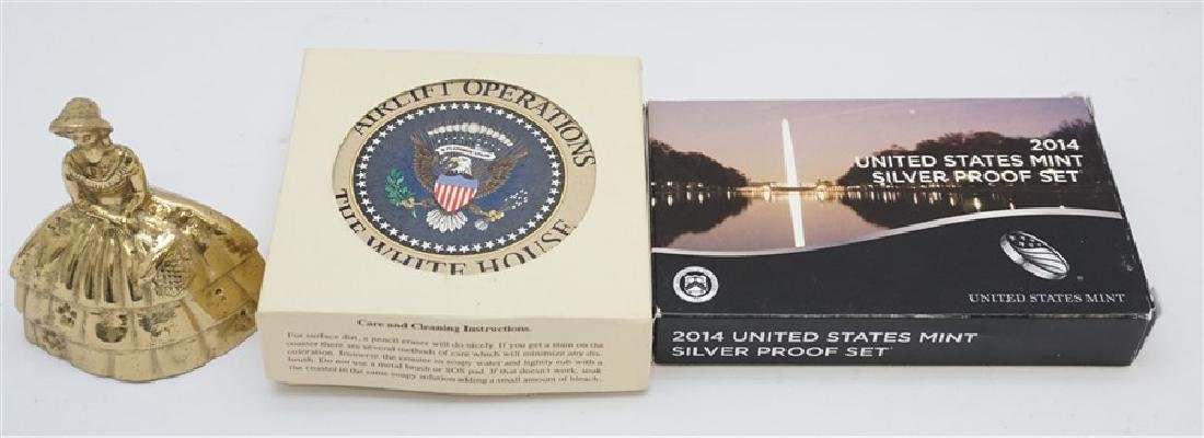2PC COINS & WHITE HOUSE COASTERS - 3