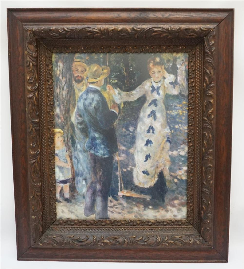 RENOIR PRINT IN CARVED WOOD FRAME