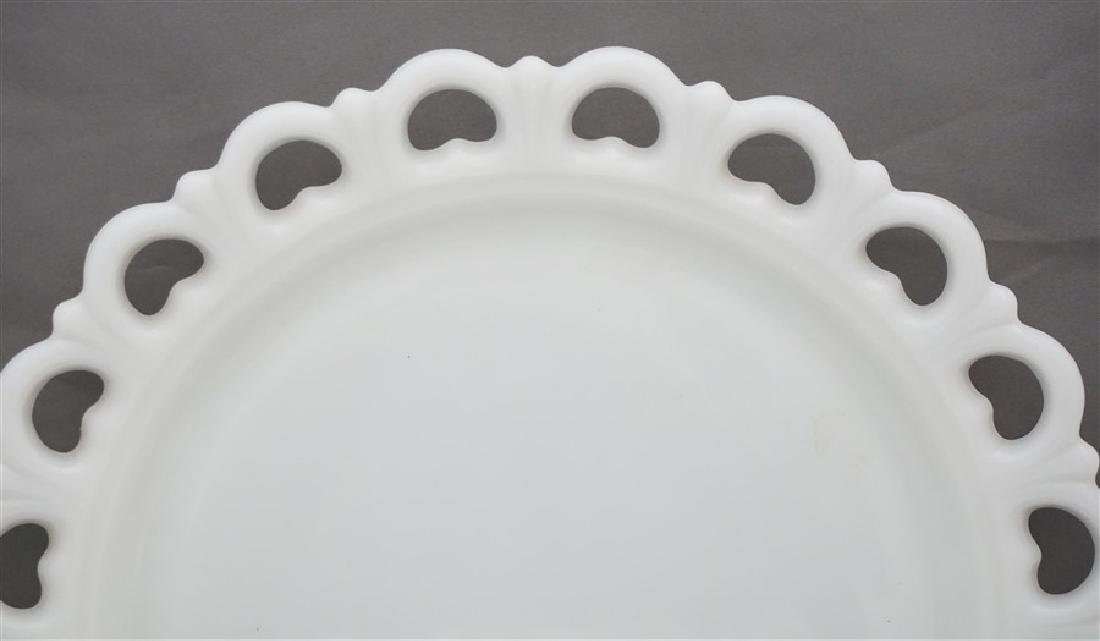 2 ANCHOR HOCKING CAKE PLATE & LARGE cOMPOTE - 2