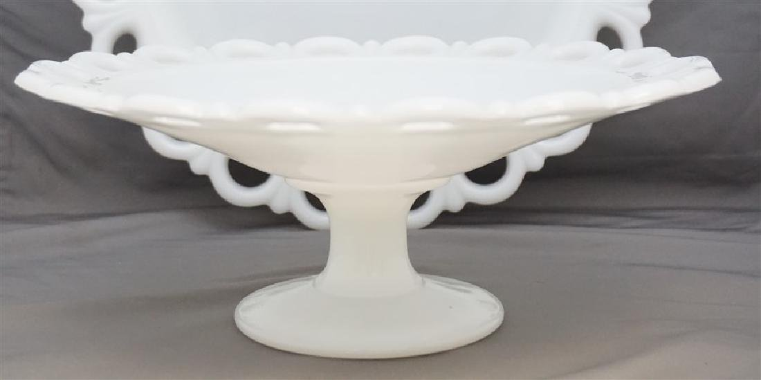2 ANCHOR HOCKING CAKE PLATE & LARGE cOMPOTE - 3