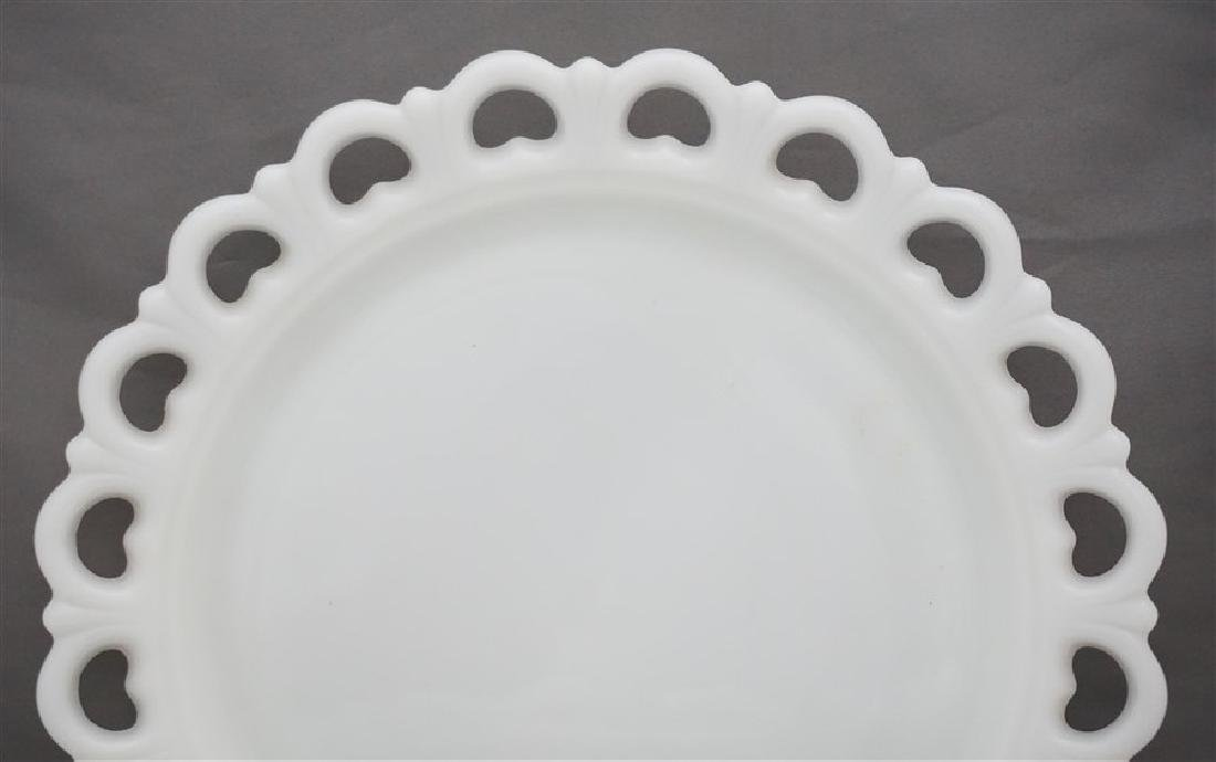 2 ANCHOR HOCKING CAKE PLATE & LARGE cOMPOTE - 6