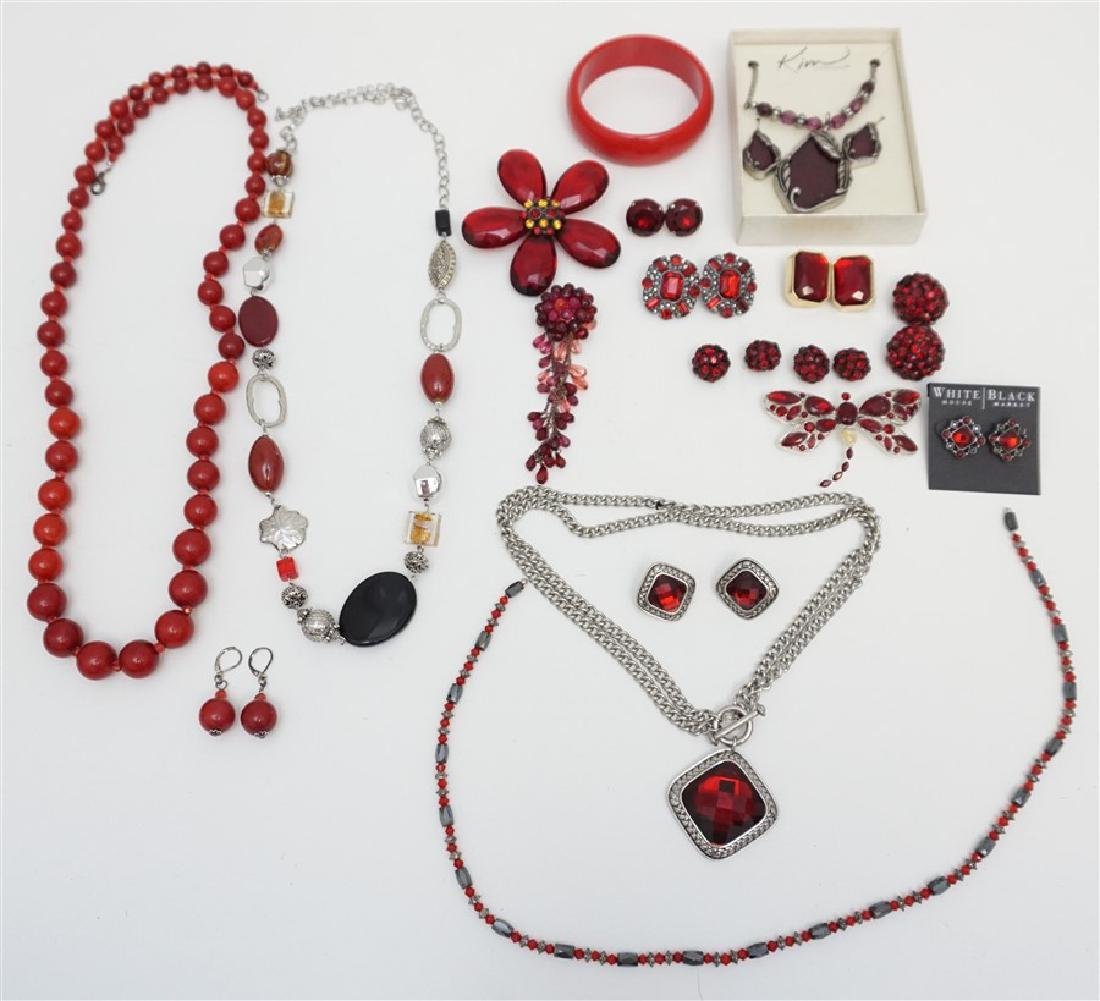 20 pc RED FASHION STATEMENT JEWELRY