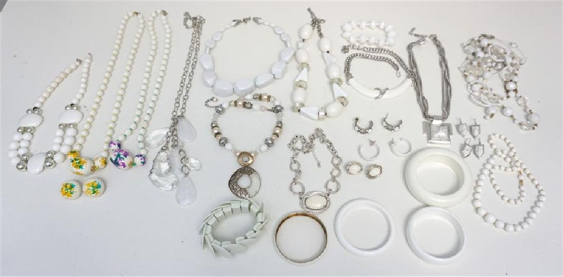25 pc CONTEMPORARY WHITE JEWELRY