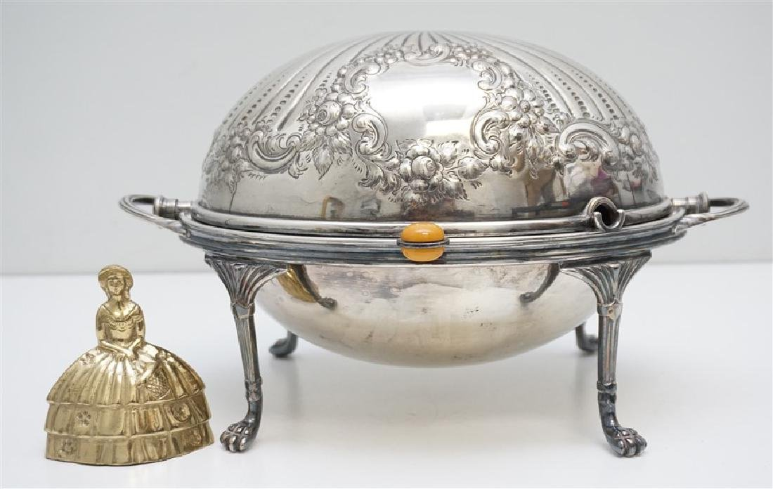 ATKIN BROTHERS SILVER PLATED COVERED SERVER - 10