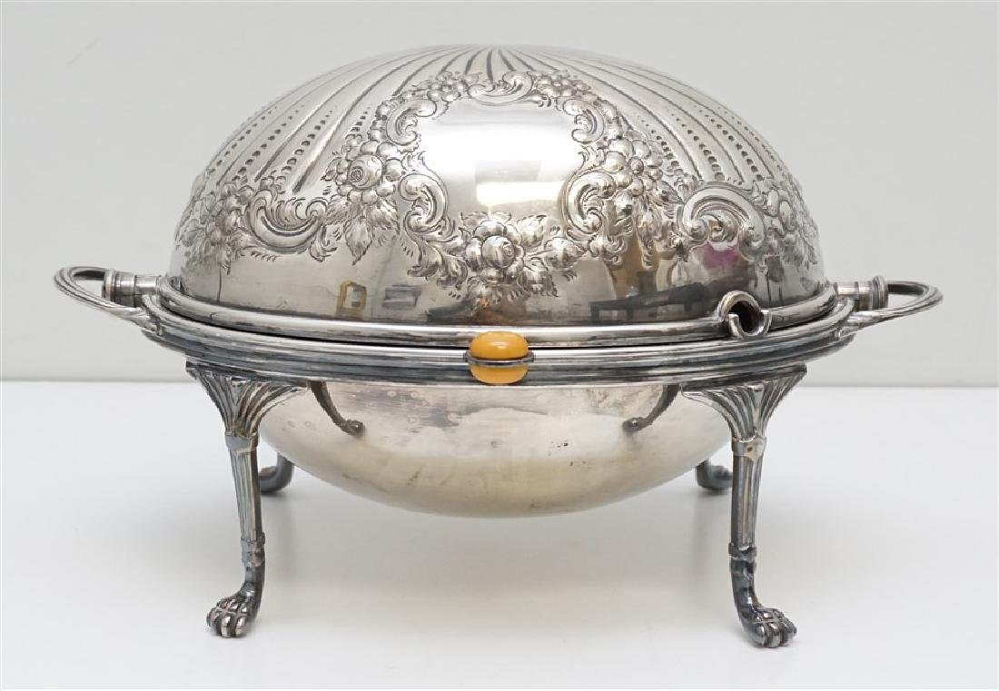 ATKIN BROTHERS SILVER PLATED COVERED SERVER