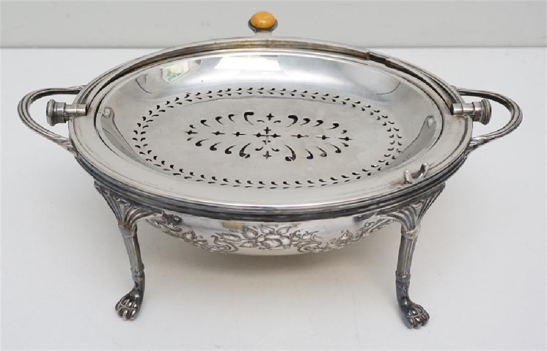 ATKIN BROTHERS SILVER PLATED COVERED SERVER - 2