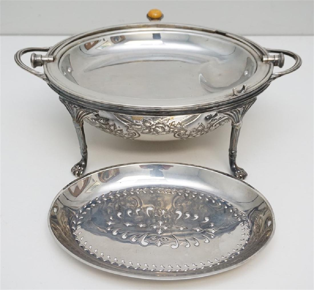 ATKIN BROTHERS SILVER PLATED COVERED SERVER - 3