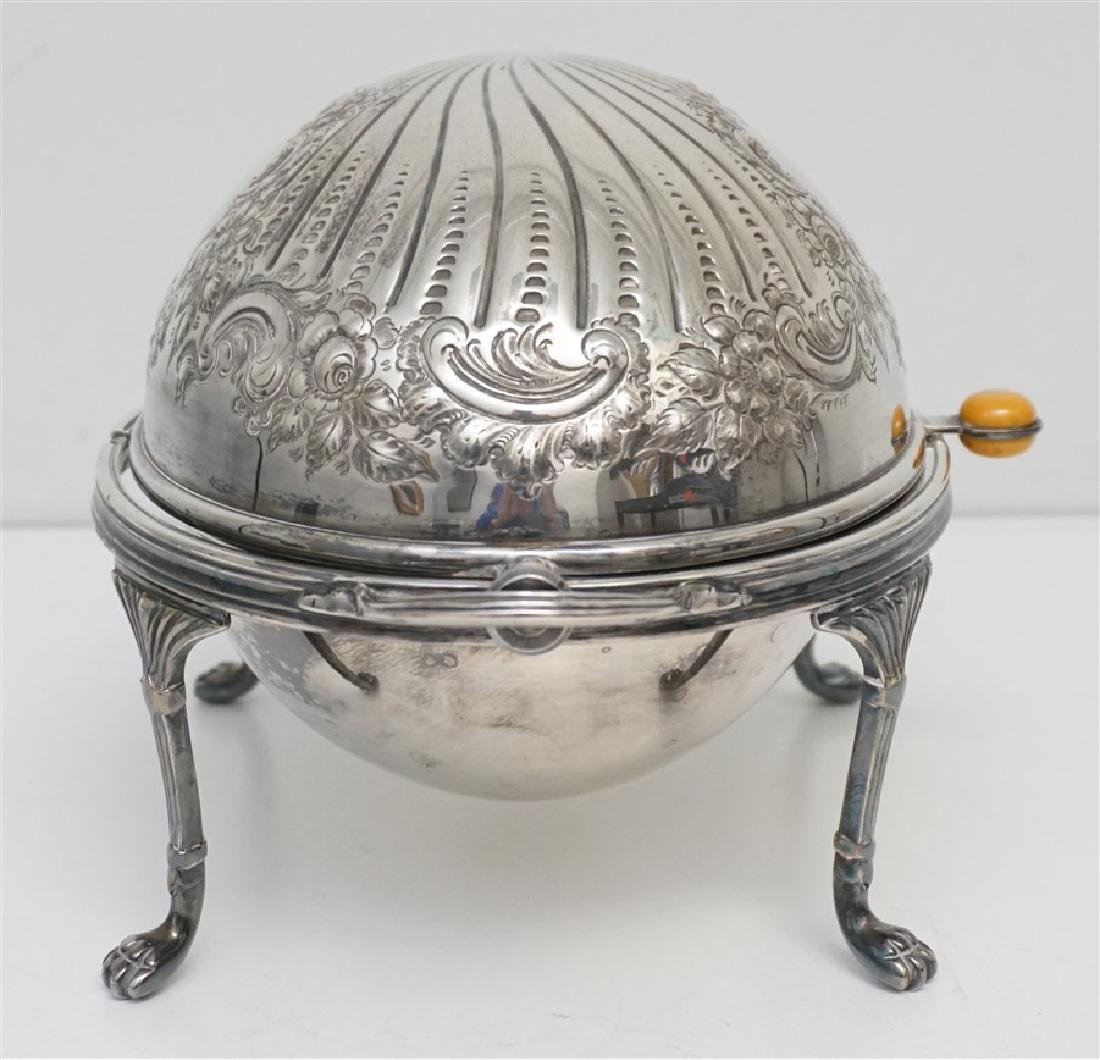 ATKIN BROTHERS SILVER PLATED COVERED SERVER - 4